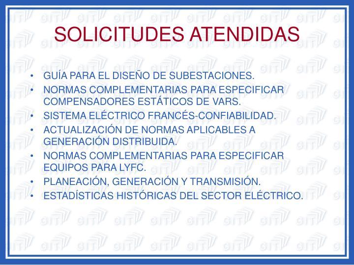 SOLICITUDES ATENDIDAS