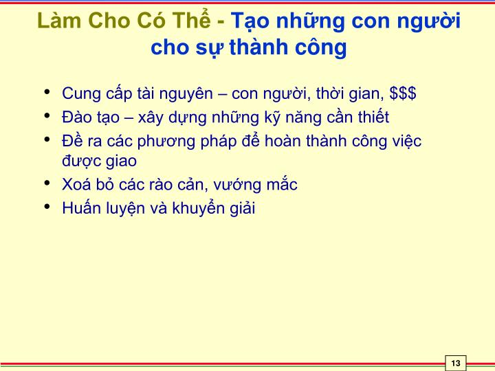 Làm Cho Có Thể -
