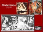 modernisme 1914 1970
