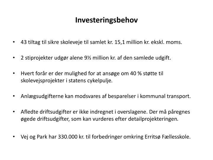 Investeringsbehov