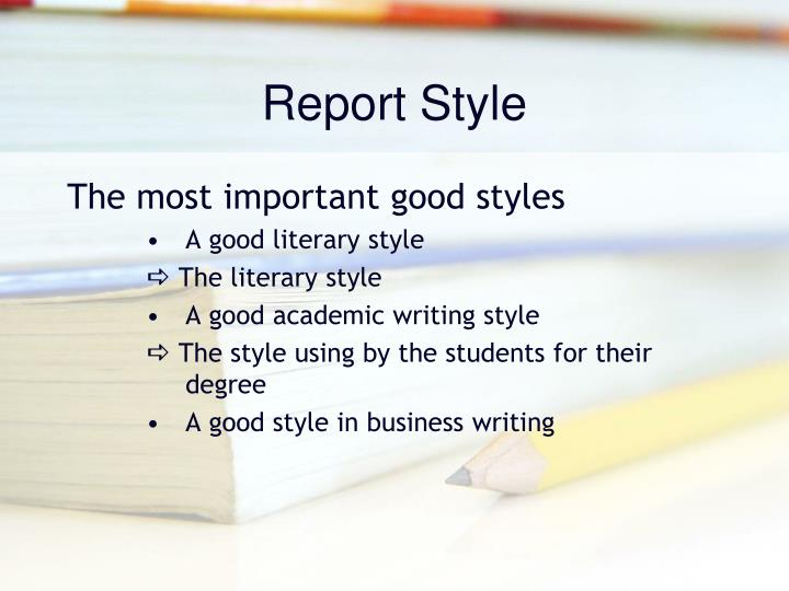 Report Style