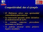 competitividad dar el ejemplo