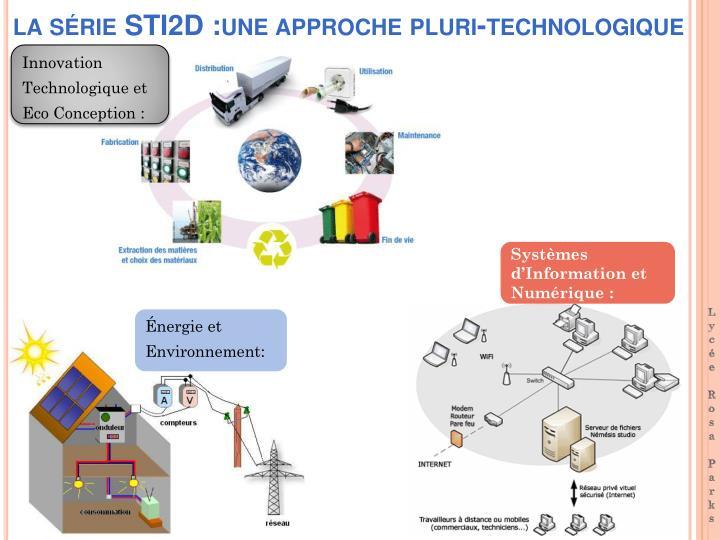 la série STI2D :une approche pluri-technologique