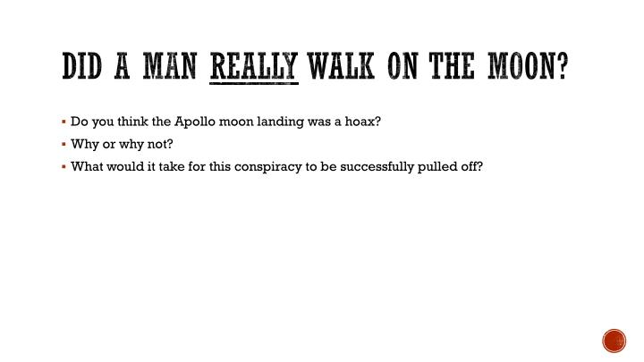 Did a man really walk on the moon