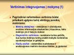 vertinimas integruojamas mokym 1