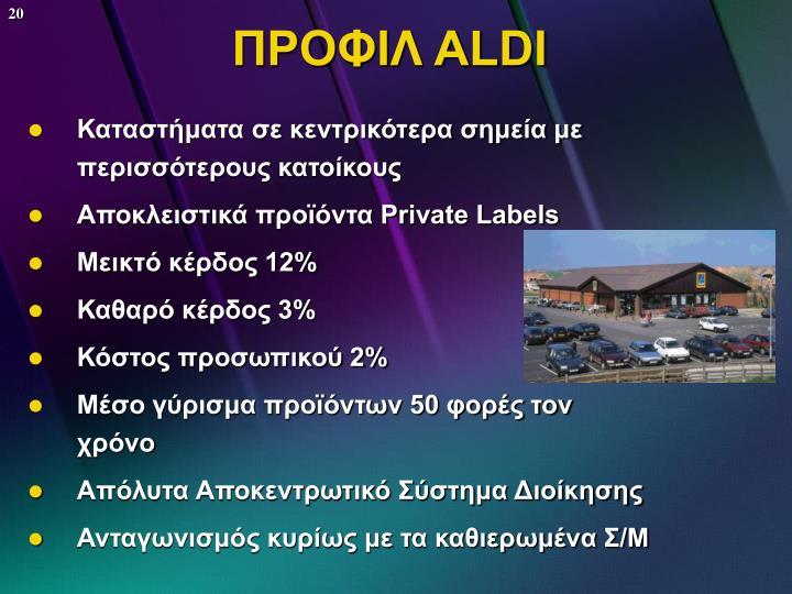 ΠΡΟΦΙΛ ALDI