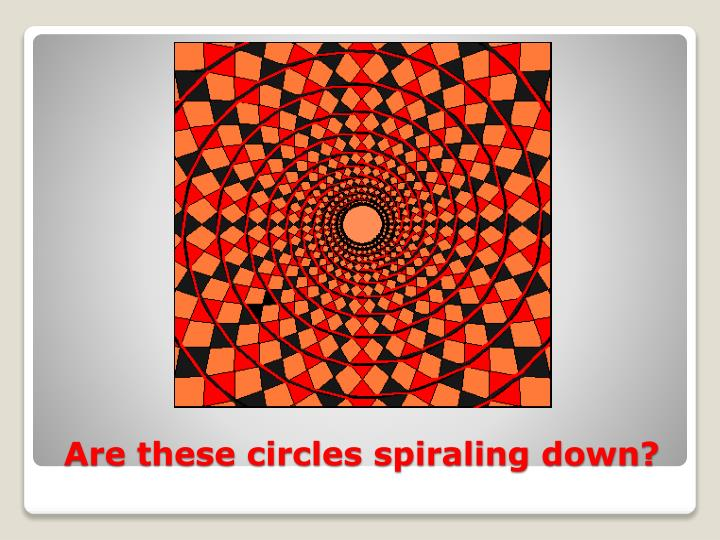 Are these circles spiraling down?