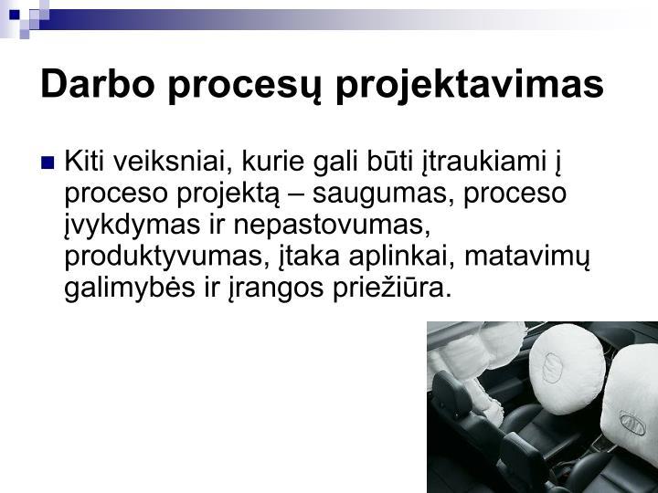 Darbo procesų projektavimas