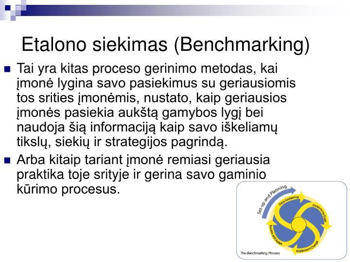 Etalono siekimas (Benchmarking)