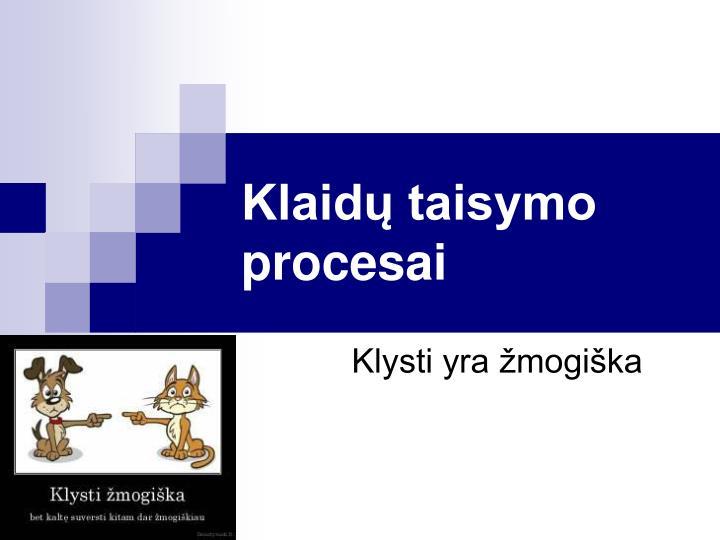 Klaidų taisymo procesai