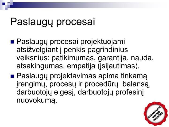 Paslaugų procesai