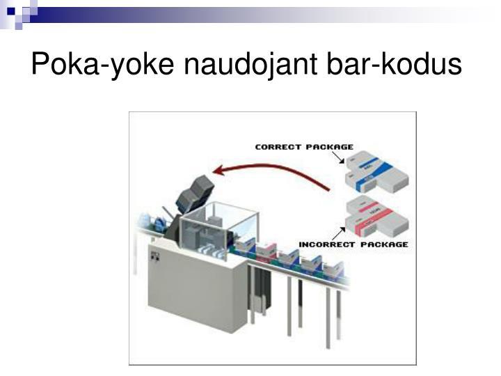 Poka-yoke naudojant bar-kodus