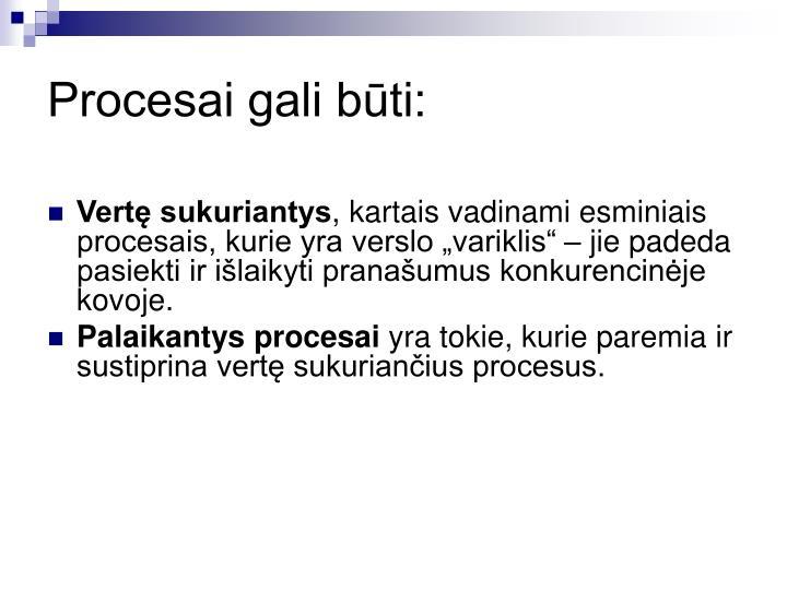Procesai gali būti: