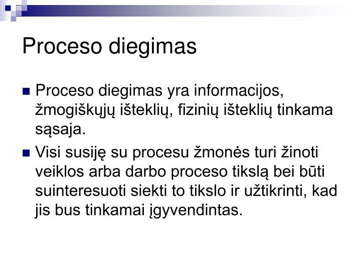 Proceso diegimas