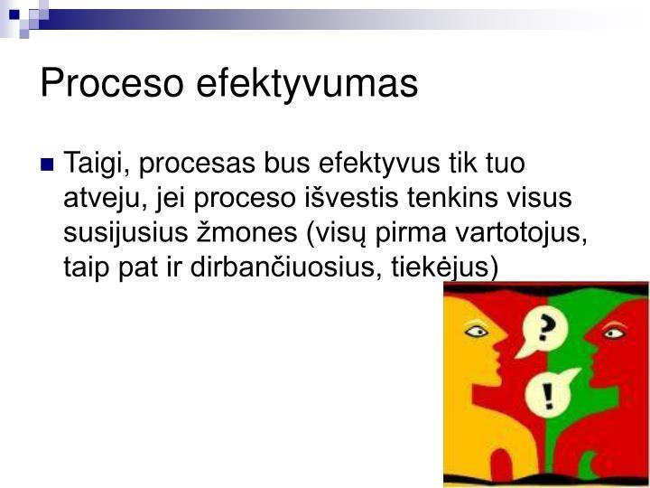 Proceso efektyvumas