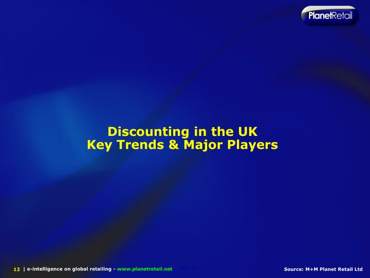 Discounting in the UK
