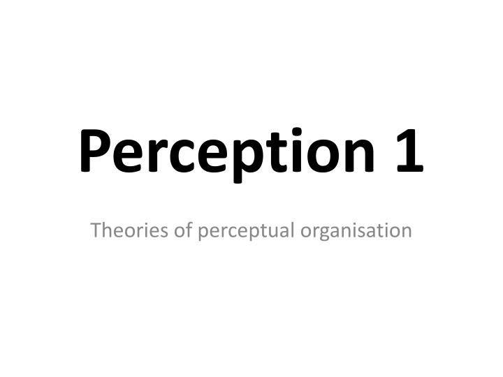 perception 1