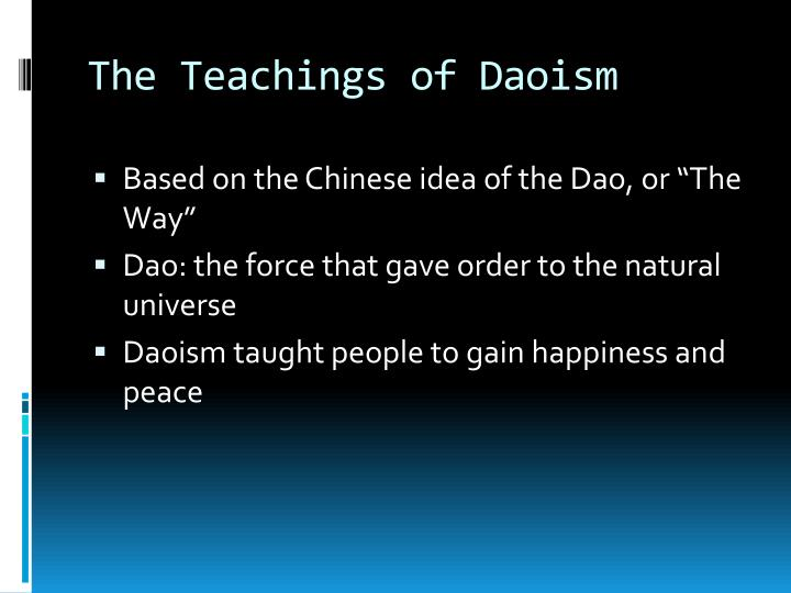 The Teachings of Daoism
