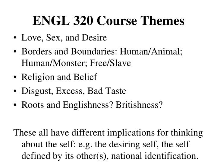 Engl 320 course themes