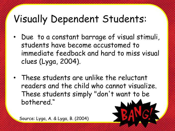 Visually Dependent Students: