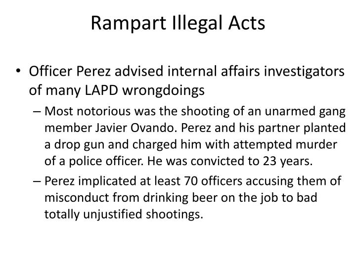 Rampart Illegal Acts