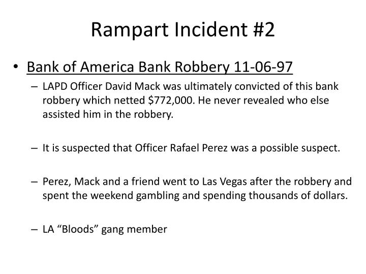 Rampart Incident #2