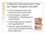 collection development how do i select graphic novels