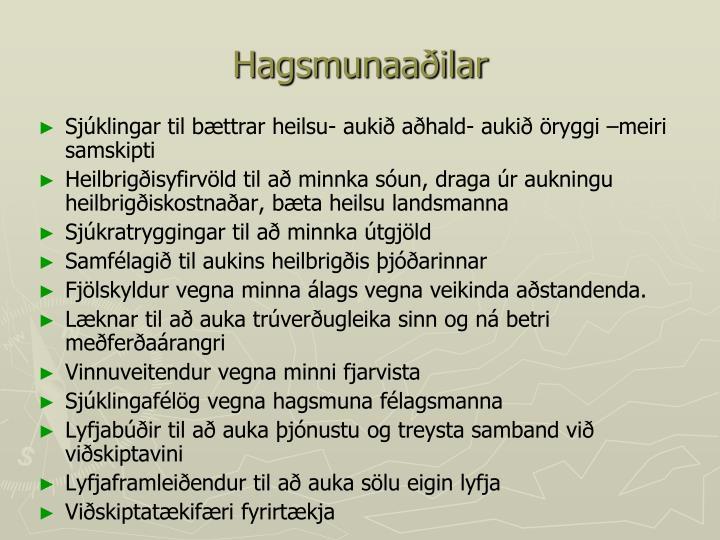 Hagsmunaaðilar