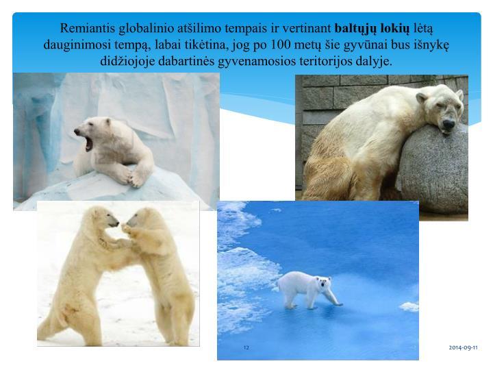 Remiantis globalinio atšilimo tempais ir vertinant