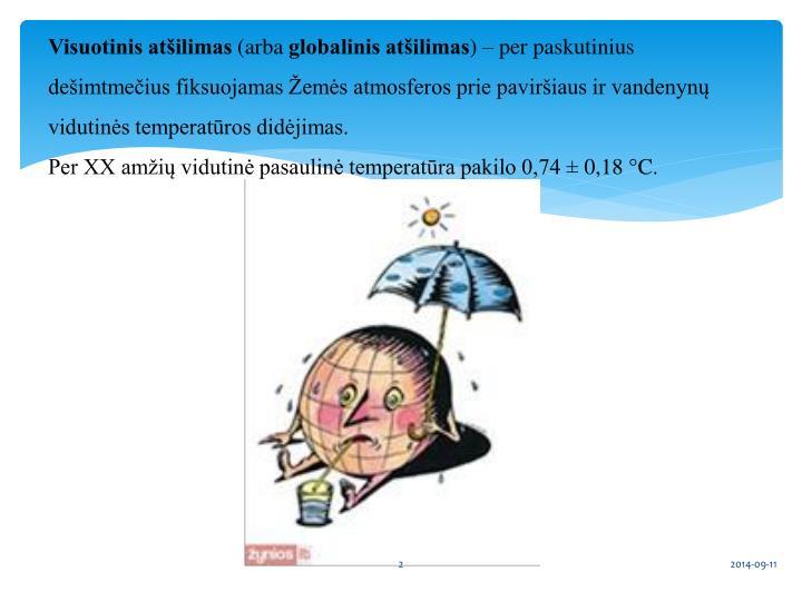 Visuotinis atšilimas