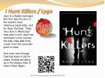 i hunt killers lyga