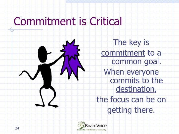 Commitment is Critical