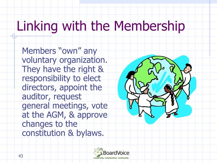 Linking with the Membership