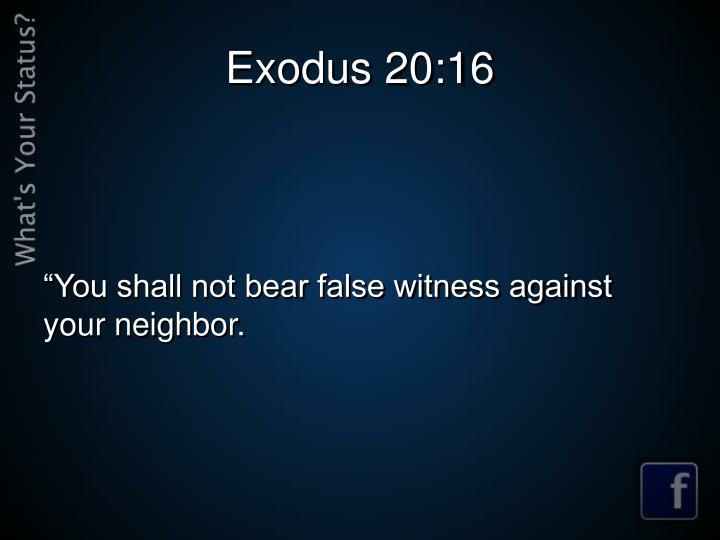 Exodus 20:16