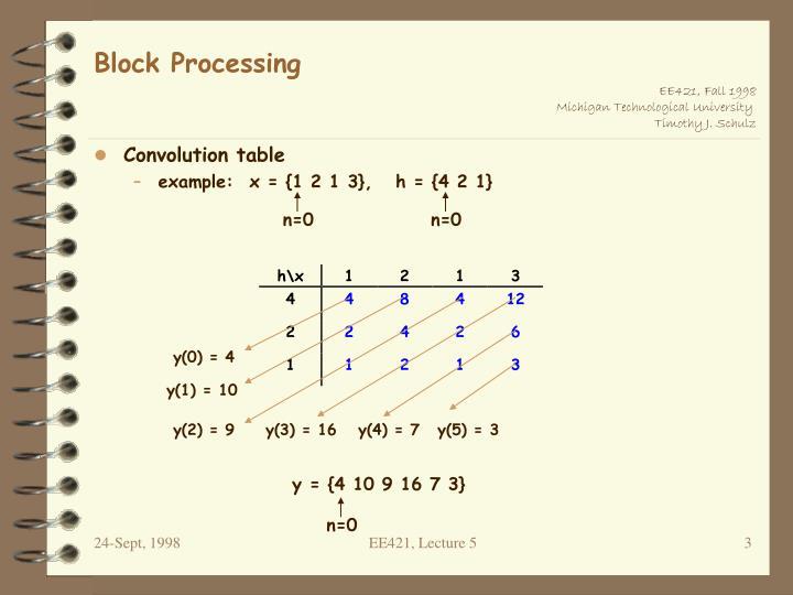 Block processing1