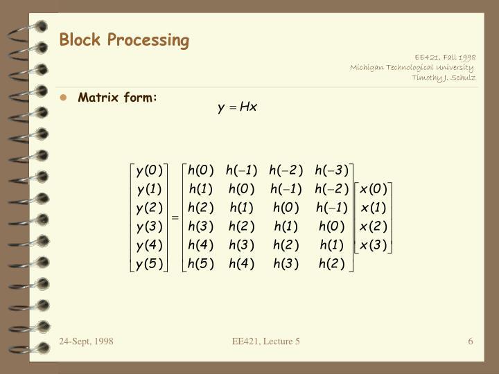 Block Processing