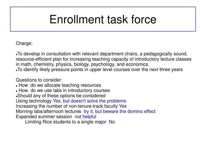 Enrollment task force1