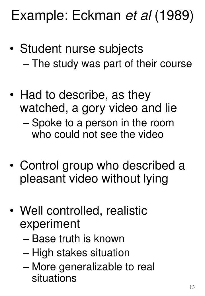 Example: Eckman