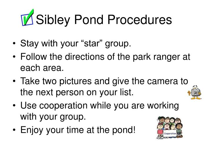 Sibley Pond Procedures