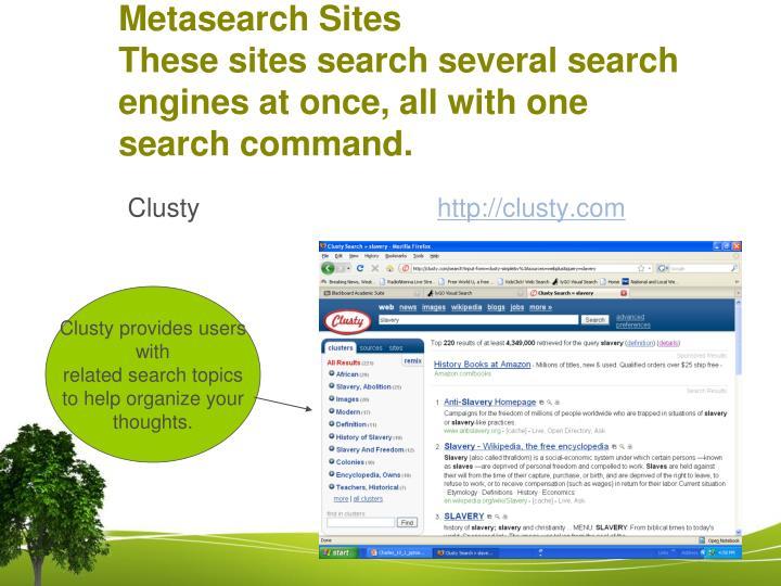 Metasearch Sites
