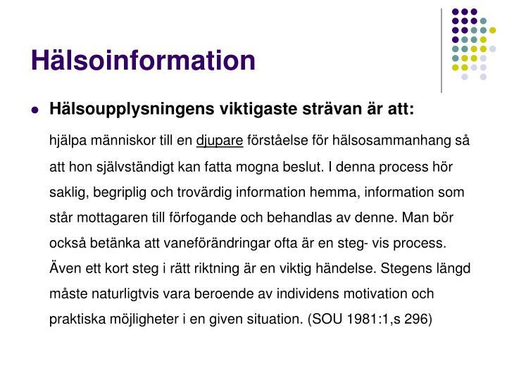 Hälsoinformation