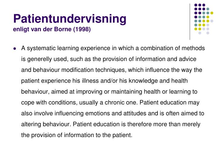 Patientundervisning