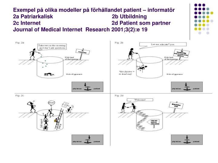 Exempel på olika modeller på förhållandet patient – informatör