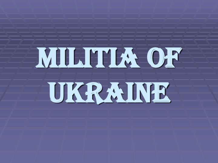 militia of ukraine n.