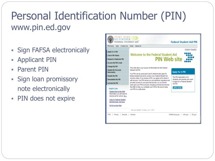 Personal Identification Number (PIN