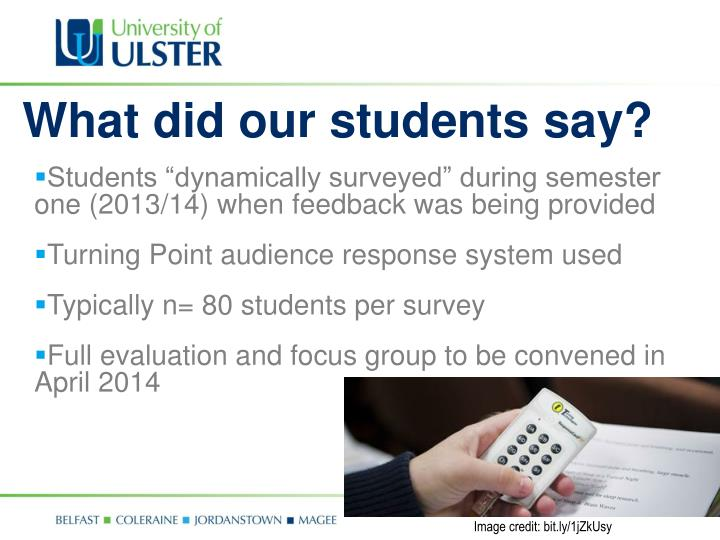 What did our students say?