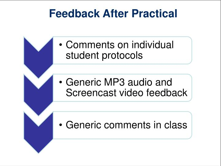 Feedback After Practical