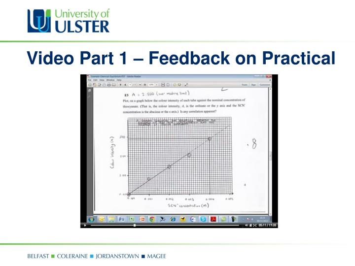 Video Part 1 – Feedback on Practical