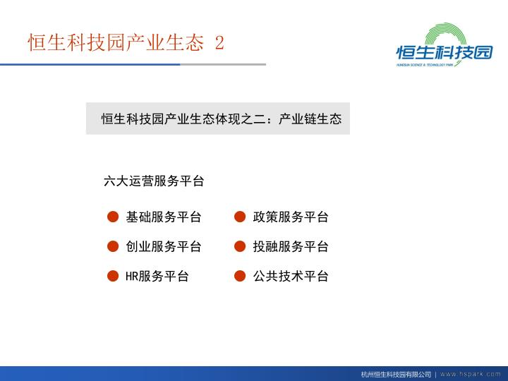 恒生科技园产业生态体现之二:产业链生态