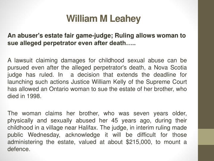 William m leahey1